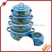 Eco friendly porcelain casserole enamel stone coated terracotta cookware