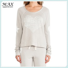 2014 Latest fashion Womens Casual Rayon/ Cotton Soft Cropped Pullover Tops , longsleeve tops , Hot selling lightweight tops