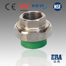 Green white ppr pipe fittings Female Brass Union