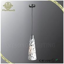 2015 trade assurance modern sand silver glass pendant lamp for dinning room