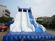 cloud style inflatable double lane slip slide