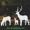nuevo producto iluminado santa claus renos led decoración de navidad decoración de la boda