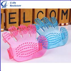 Crystal Palm Shape Pet Bath Massage Brush wholesale Pet Finger Washing Brush
