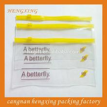 Yellow Plastic Zipper Bags for Company,Zip Lock Bags,Transparent Pvc Bags