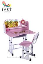 2014 adjustable height plastic school desk and chair
