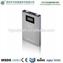 6000mAh LED screen portable universal power bank