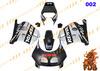 Aftermarket ABS Injection Molding Fairing Bodywork Cowling Matte black silver CBR250RR MC22 1990~1999 color option 002