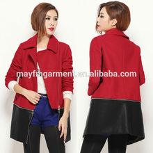 red OL woolen women coat/new model coat women 2014