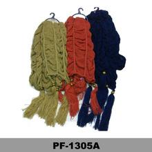 Jewelry cashmere scarf checked ladies scarves fleece neck warmer