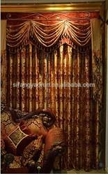 2014new luxury curtain embroidery logo brand weave figure italy silk tie curtain