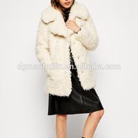 2014 winter fashion women Faux Curly fur shearling Coat