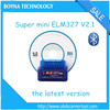 New 2015 Top Rated ELM327 Bluetooth Super MINI ELM327 Interface Support All OBDII Protocols