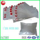 Aluminum foil carton packaging drinking water in plastic bag