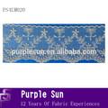 patrón floral red doble del bordado de encaje de malla de recortes para los niños de la tela