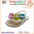Macio 100% algodão infantis crochê bebê sapatos meninas