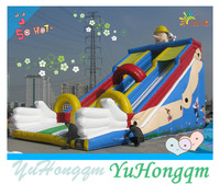 china giant commercial grade big slides inflatables two lanes dry inflatable slides fun city for kids and adults on sale