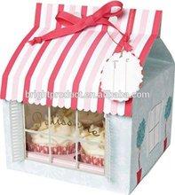Meri meri bird house small paper cupcake box for cupcake,4 pack