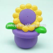 EN71 PVC potting bath toy squirter / plant educational toys/flower vinyl toy