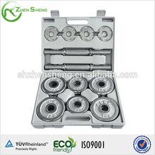 Zhensheng dumbbell weight set prices of iron chromed dumbbell