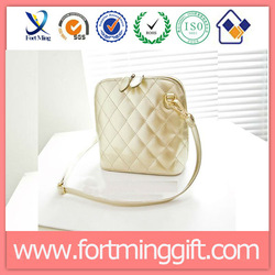 2014 new fashion quilted PU leather shoulder bags/PU cross body bags/PU metallic cosmetic bags