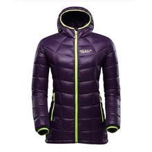 Custom high quality warm ladies down coat jacket