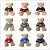 customized stuffed plush teddy bear with t-shirt print national flag or your own logo