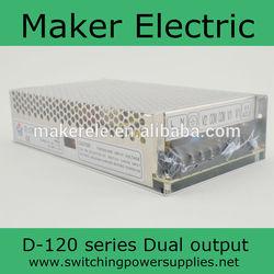 150W Din Rail switch power supply D-150A 15V -15V 5A 5A