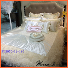 WLB070-12 High quality excellent design lace bedding sets