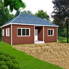 small house light steel structure prefab sandwich panel villas