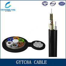 Sale GYTC8A aerial cable 6 core single mode figure 8 fiber optic cable