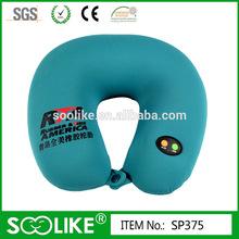 2014 fashion u shape vibrating massage travel neck pillow