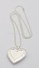 Fashion Silver Heart Locket Jewelry Pendant Necklace