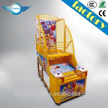 Funshare popular coin operated mini street basketball arcade game machine for children
