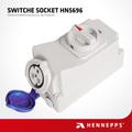 hennepps internacional norma 3p 32a 220v cambió el zócalo de salida ip44