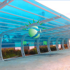 latest technology building material colorful plastic hollow panels for awning carport and sunroom