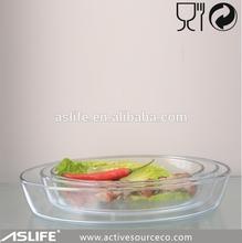 ASC1156_260x180x55mm Can Produce 1.6L Customized Logo Printed Baking Glass Dish!Favorite Elliptic Baking 1600ml Dish