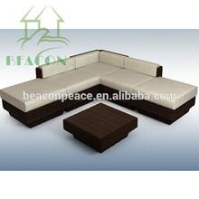 2015 Modern used outdoor rattan saving space sofa