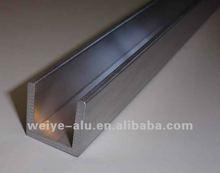 aluminium u channel extrusion profile