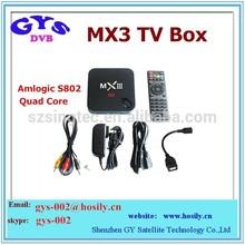 mx3 xbmc installed Miracast+Dlna+airplay amlogic s802 quad core 2g ram 8g rom google android tv box