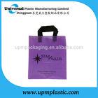 Fashion Black flexi loop handle plastic pe bag for packaging