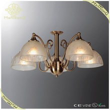 2015 latest design antique brass glass shade classic pendant light