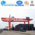 40 toneladas de contenedores de la grúa de pórtico