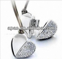 2014 the newest promotion gift high quality metal heart shape usb flash drive
