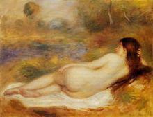Impression Renoir nude lady oil paintings