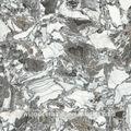 Zibo muy clásico de color gris y blanco piedra patrón 800x800mm completo pulido porcelánico esmaltado azulejo de piso, zibo china