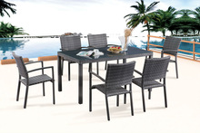 European style dining room set rattan dining set garden