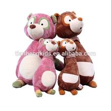 Christmas ICTI AUDIT EN71 ASTM standard customized plush toy stuffed toy cute plush raccoon family