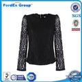 Elegante blusas en modelos de encaje simple blusas para mujer