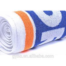 Super cheap 100 cotton printing color bright sport sweat towels