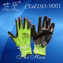 high quality safety working gloves black nitrile gloves